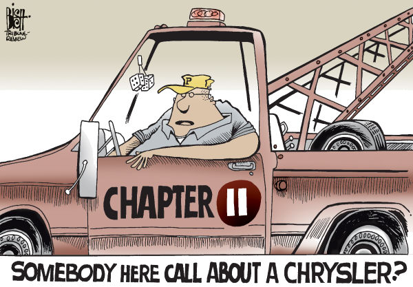 64104 600 CHRYSLER GETS A TOW cartoons