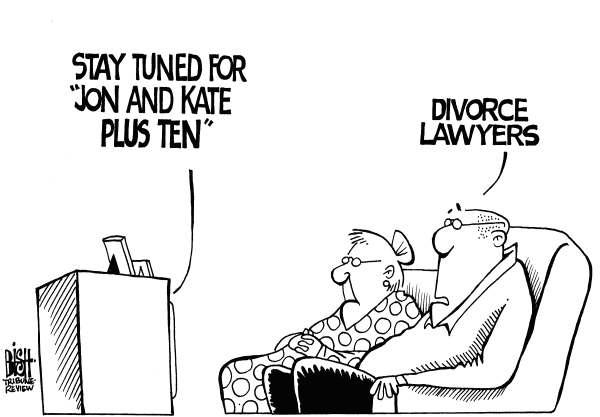 Randy Bish - Pittsburgh Tribune-Review - JON AND KATE, b/w - English - JON AND KATE PLUS EIGHT, DIVORCE, SPLIT, REALITY TV