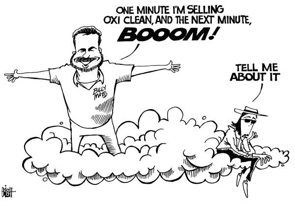 Randy Bish - Pittsburgh Tribune-Review - BILLY MAYS, MICHAEL JACKSON, b/w - English - BILLY MAYS, DEAD, MICHAEL JACKSON