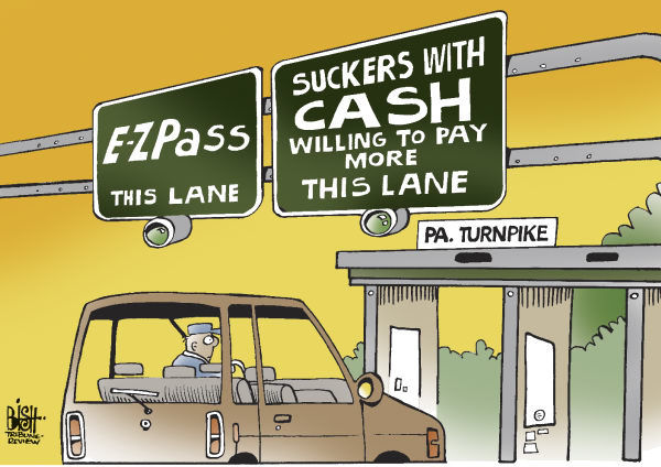 80791 600 LOCALPA TURNPIKE RATE HIKE cartoons