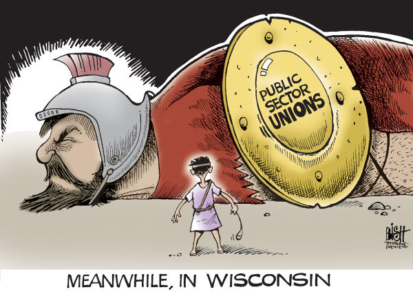 90393 600 FALL OF THE WISCONSIN UNION cartoons