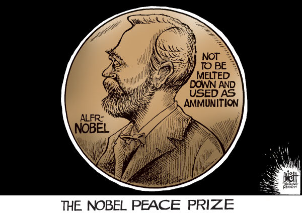91058 600 OBAMAS PEACE PRIZE cartoons