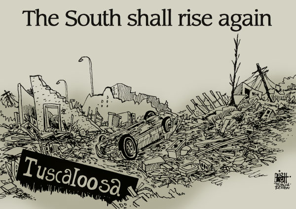 92409 600 TORNADOES IN THE SOUTH cartoons