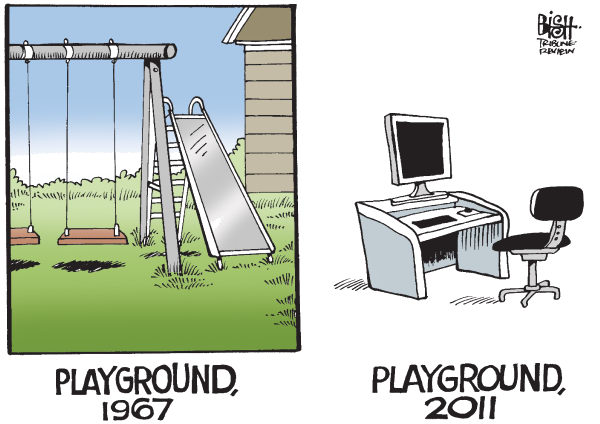 93690 600 PLAYGROUNDS THEN AND NOW cartoons