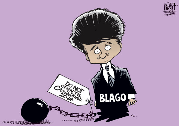 102600 600 BLAGOJEVICH WRAPPED UP cartoons