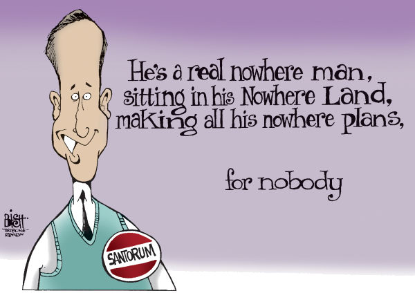 109417 600 SANTORUM ON THE ROAD TO NOWHERE cartoons