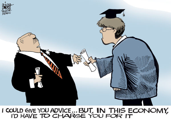 111253 600 NO SUCH THING AS FREE ADVICE cartoons