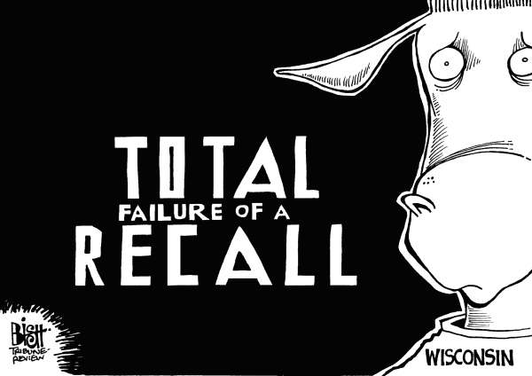 Randy Bish - Pittsburgh Tribune-Review - WISCONSIN RECALL, B/W - English - WISCONSIN, RECALL, ELECTION, VOTE, SCOTT WALKER, UNIONS