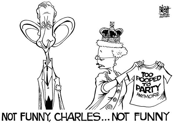 Randy Bish - Pittsburgh Tribune-Review - QUEEN ELIZABETH'S PARTY, B/W - English - QUEEN, ELIZABETH, ENGLAND, LONDON, QUEEN ELIZABETH, DIAMOND JUBILEE, PRINCE CHARLES, PARTY, CELEBRATION