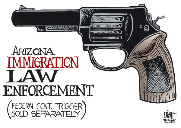 Randy Bish - Pittsburgh Tribune-Review - SUPREME COURT IMMIGRATION, COLOR - English - SUPREME COURT, ARIZONA, IMMIGRATION, IMMIGRANTS, ILLEGAL, STATE, FEDERAL, LAW, ENFORCE