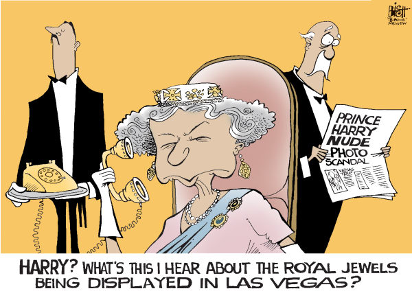 Randy Bish - Pittsburgh Tribune-Review - PRINCE HARRY GOES TO VEGAS, COLOR - English - LAS VEGAS, HARRY, PRINCE HARRY, ENGLAND, ROYALTY, NAKED, NUDE, PHOTO