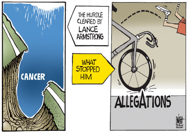 Randy Bish - Pittsburgh Tribune-Review - LANCE ARMSTRONG, COLOR - English - LANCE ARMSTRONG, TOUR DE FRANCE, CYCLING, BICYCLING, BIKE, DRUG, DRUGS, DOPING, ALLEGATIONS
