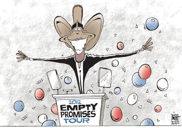 Randy Bish - Pittsburgh Tribune-Review - PROMISE TOUR, COLOR - English - OBAMA, DEMOCRAT, DEMOCRATIC, CONVENTION, CHARLOTTE, 2012