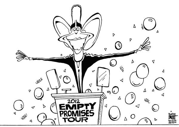 Randy Bish - Pittsburgh Tribune-Review - PROMISE TOUR, B/W - English - OBAMA, DEMOCRAT, DEMOCRATIC, CONVENTION, CHARLOTTE, 2012