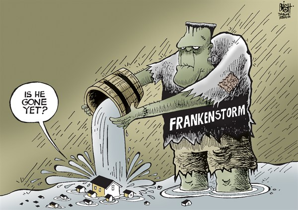 Randy Bish - Pittsburgh Tribune-Review - FRANKENSTORM, COLOR - English - FRANKENSTORM, HURRICANE, HURRICANE SANDY, SANDY, STORM, DAMAGE, FLOODING, COAST