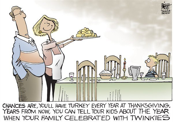 Randy Bish - Pittsburgh Tribune-Review - A TWINKIE THANKSGIVING, COLOR - English - TWINKIES, HOSTESS