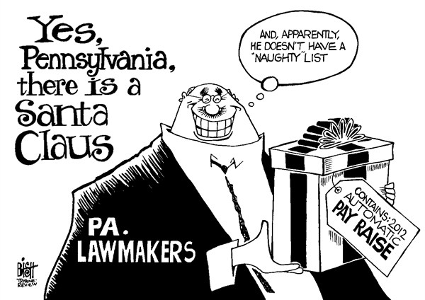 Randy Bish - Pittsburgh Tribune-Review - LOCAL- PA PAY RAISE, B/W - English - PENNSYLVANIA, GOVERNMENT, RAISE, PAY