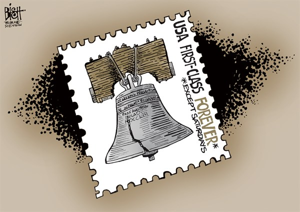 Randy Bish - Pittsburgh Tribune-Review - NO MAIL ON SATURDAYS, COLOR - English - POSTAL, POST OFFICE, POSTAL SYSTEM, MAIL, CARRIERS, UNITED STATES POSTAL SERVICE, SATURDAYS