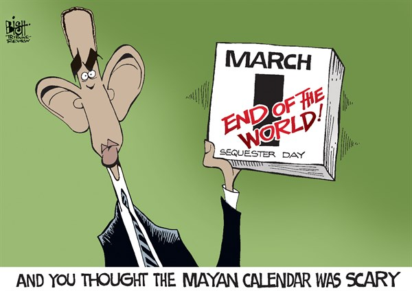 Randy Bish - Pittsburgh Tribune-Review - SEQUESTER DAY, COLOR - English - SEQUESTER, SEQUESTRATION, GOVERNMENT, CUTS, OBAMA, 2013