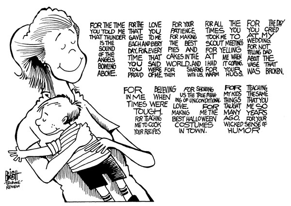 Randy Bish - Pittsburgh Tribune-Review - MOTHER'S DAY, B/W - English - MOTHER, MOM, MOTHERS DAY, CHILDREN, PARENT