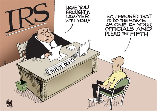 Randy Bish - Pittsburgh Tribune-Review - IRS TAKES THE FIFTH, COLOR - English - IRS, FIFTH AMENDMENT, TAKE THE FIFTH, TESTIFY, PROBE, INVESTIGATION, SCANDAL