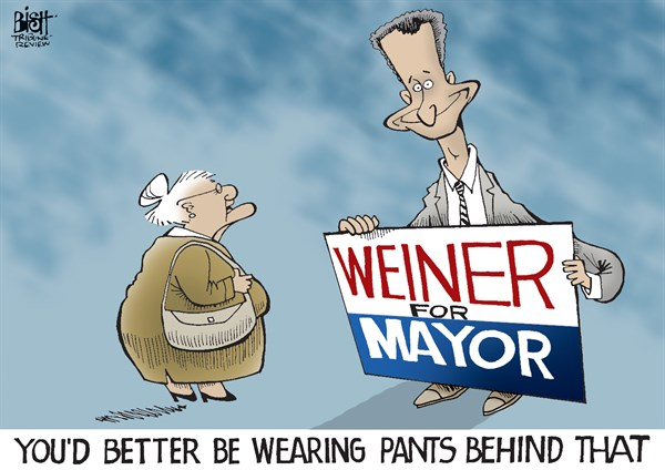 Randy Bish - Pittsburgh Tribune-Review - ANTHONY WEINER, COLOR - English - ANTHONY WEINER, NEW YORK, NEW YORK CITY, MAYOR, ELECTION