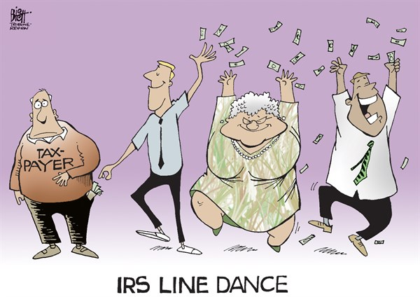 Randy Bish - Pittsburgh Tribune-Review - IRS LINE DANCE, COLOR - English - LINE DANCE, LINE DANCING, IRS, INTERNAL REVENUE SERVICE, SCANDAL, CONFERENCES, VIDEOS, TAX, TAXES, OBAMA
