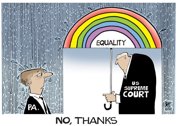 Randy Bish - Pittsburgh Tribune-Review - LOCAL- PA GAY MARRIAGE, COLOR - English - PENNSYLVANIA, DOMA, GAY, MARRIAGE, BAN, BANNED, SUPREME COURT, DECISION