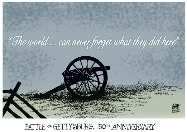 GETTYSBURG 150th ANNIVERSARY cartoon
