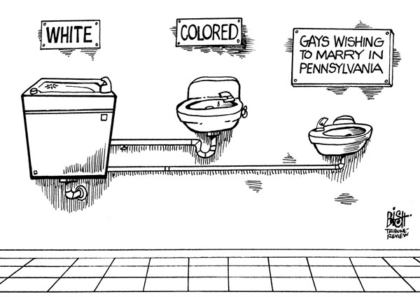 Randy Bish - Pittsburgh Tribune-Review - LOCAL- PA GAY MARRIAGE BAN, B/W - English - PENNSYLVANIA, GAY, MARRIAGE, BAN, LAW, GOVERNMENT