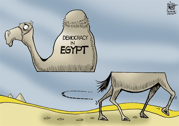 Randy Bish - Pittsburgh Tribune-Review - EGYPT HEADS IN ANOTHER DIRECTION, COLOR - English - EGYPT, DEMOCRACY, MORSI, COUP, GOVERNMENT