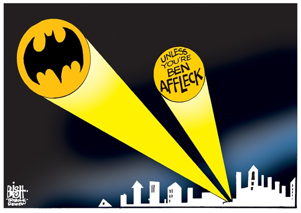 Randy Bish - Pittsburgh Tribune-Review - BEN AFFLECK AS BATMAN, COLOR - English - BEN AFFLECK, BATMAN, MOVIE