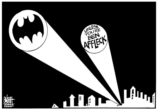 Randy Bish - Pittsburgh Tribune-Review - BEN AFFLECK AS BATMAN, B/W - English - BEN AFFLECK, BATMAN, MOVIE