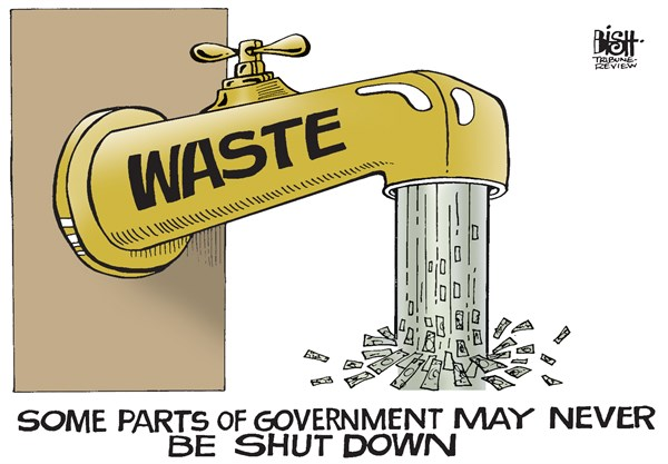 Randy Bish - Pittsburgh Tribune-Review - GOVERNMENT WASTE, COLOR - English - SHUTDOWN, GOVERNMENT, WASTE