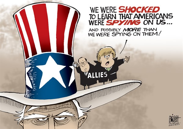 Randy Bish - Pittsburgh Tribune-Review - SPIES LIKE US, COLOR - English - SPY, SPYING, SPIES, GOVERNMENT, UNITED STATES, ALLY, ALLIES, ESPIONAGE