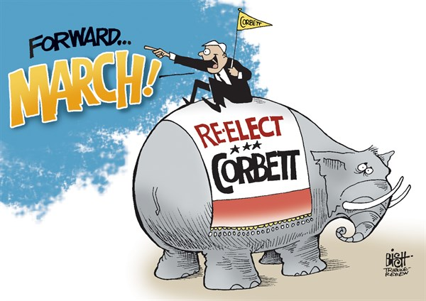 Randy Bish - Pittsburgh Tribune-Review - LOCAL, PA GOV CORBETT CAMPAIGN, COLOR - English - PENNSYLVANIA, GOVERNOR, TOM CORBETT, ELECTION, REPUBLICANS