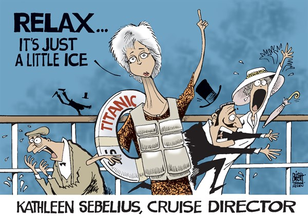 Randy Bish - Pittsburgh Tribune-Review - SEBELIUS SAYS TO RELAX, COLOR - English - KATHLEEN SEBELIUS, SEBELIUS, OBAMACARE, HEALTH CARE, ONLINE, COVERAGE, OBAMA