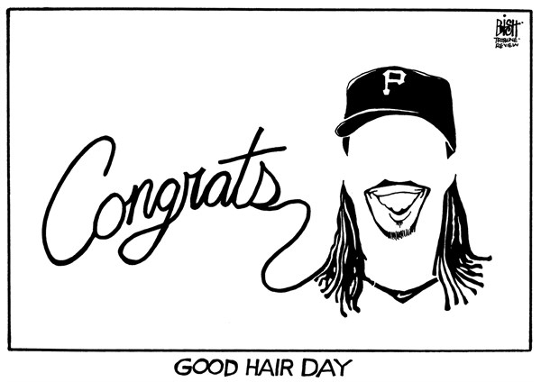 Randy Bish - Pittsburgh Tribune-Review - MCCUTCHEN, NL MVP, B/W - English - MCCUTCHEN, PITTSBURGH, PIRATES, ANDREW MCCUTCHEN, MVP, NATIONAL LEAGUE, BASEBALL, 2013