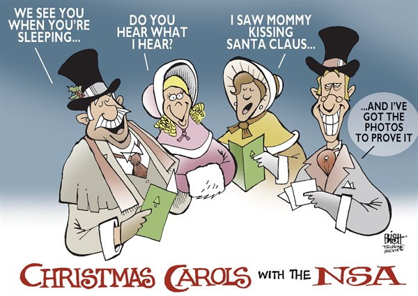 Randy Bish - Pittsburgh Tribune-Review - NSA CHRISTMAS CAROLS, COLOR - English - NSA, SPY, GOVERNMENT, INFORMATION, SURVEILANCE