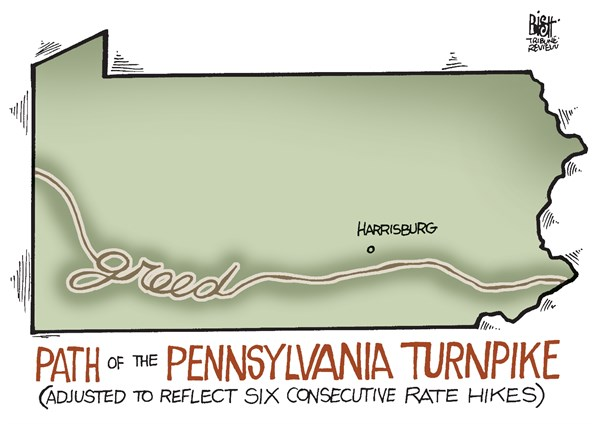 142493 600 LOCAL  PA TURNPIKE RATES cartoons