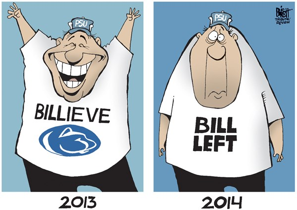 142561 600 PENN STATE COACH LEAVES cartoons