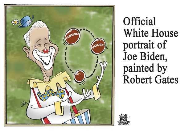 Randy Bish - Pittsburgh Tribune-Review - BIDEN AS SEEN BY GATES, COLOR - English - JOE BIDEN, ROBERT GATES, OBAMA, DUTY, BOOK, FOREIGN POLICY
