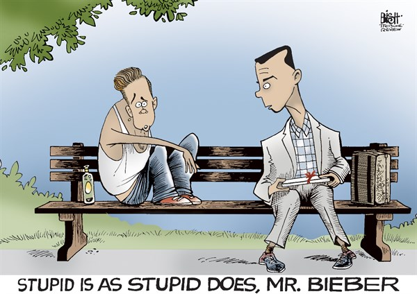 Randy Bish - Pittsburgh Tribune-Review - JUSTIN BIEBER ARRESTED, COLOR - English - JUSTIN BIEBER, ARREST, ARRESTED, POLICE, DUI, SINGER
