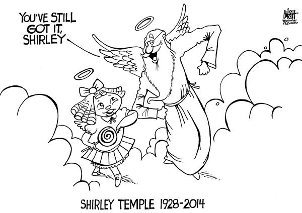 Randy Bish - Pittsburgh Tribune-Review - SHIRLEY TEMPLE, B/W - English - SHIRLEY TEMPLE, HOLLYWOOD, MOVIES, FILM