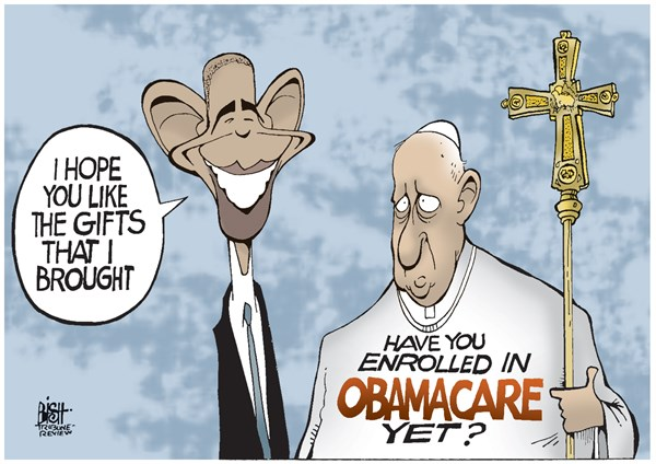 146407 600 OBAMA AND THE POPE cartoons