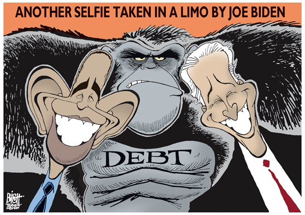 Randy Bish - Pittsburgh Tribune-Review - BIDEN'S SELFIE, COLOR - English - JOE BIDEN, OBAMA, SELFIE, DEBT, TRAVEL