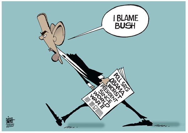 WORST PRESIDENT © Randy Bish,Pittsburgh Tribune-Review,OBAMA, PRESIDENT, WORST, POLL