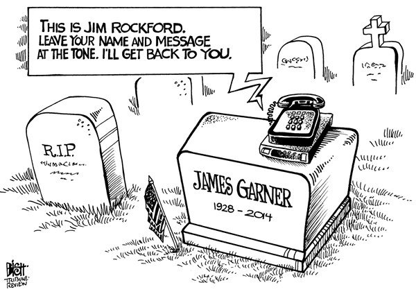 Randy Bish - Pittsburgh Tribune-Review - JAMES GARNER, B/W - English - James Garner, the Rockford Files