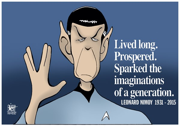 LEONARD NIMOY © Randy Bish,Pittsburgh Tribune-Review,LEONARD NIMOY, SPOCK, STAR TREK