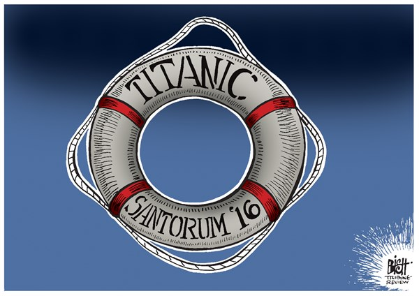 SANTORUM SETS SAIL © Randy Bish,Pittsburgh Tribune-Review,SANTORUM, ELECTION, PRESIDENT, CAMPAIGN, UNITED STATES